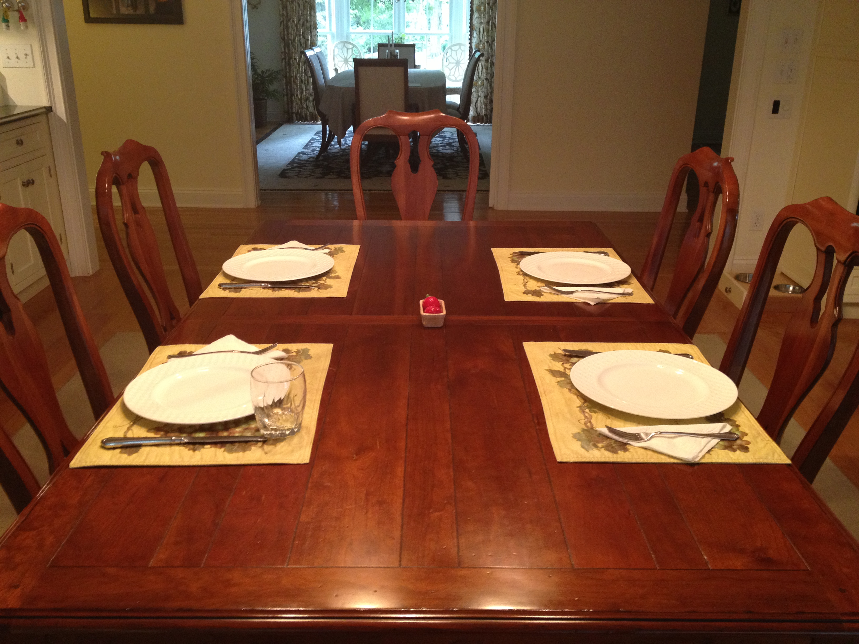 Getting dinner done the seana method Dinner table setting pictures