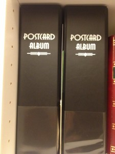 Postcard albums to store postcard collection.