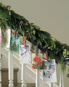 Cards from a garland