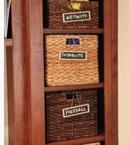 Mudroom basket labels