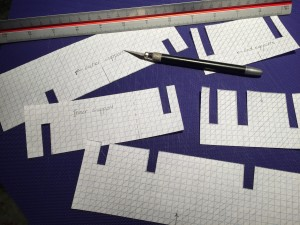 Cutting out the templates