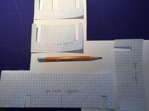 Transfer templates to foam core