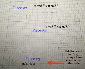 Elevation Drawing of Pieces 1