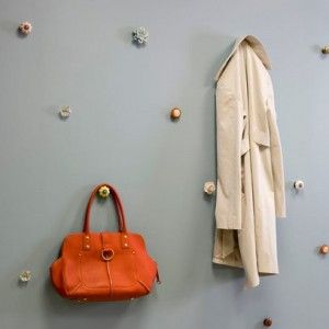 vintage doorknobs as coat hooks