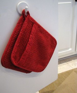 potholders on a hook
